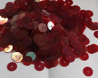100 Reddish Pink Color/ Round Sequins/Rainbow Texture/ KBRS570