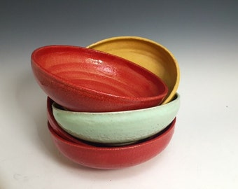 Mid-Size Red Serving Bowl; Functional Fine Art; Modern Design; Island Style; Handmade; Florida Keys; Bowls Sold Seperately.