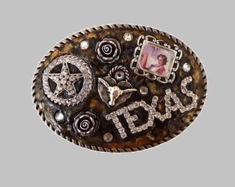 Sassy Cowgirl Western Rhinestone Texas Belt Buckle
