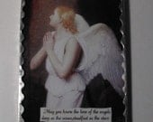 Angel Wall Plaque Soldered Glass Ornament