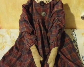 primitive raggedy Ann rag doll