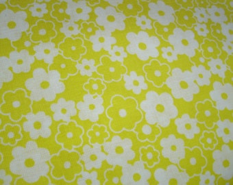 BTY Yellow white flowers quilting cotton fabric 44 inches wide sewing material summer dresses