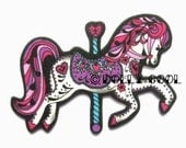 Carousel Horse Brooch by Dolly Cool Super cute and Kawaii Fairground Kitsch