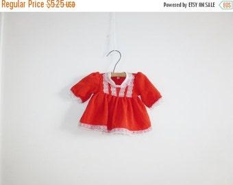 SALE // Vintage Red Baby Doll Dress