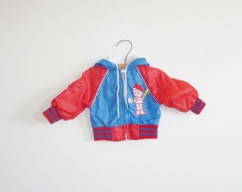 Vintage Blue and Red Baby Jacket