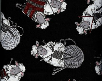 Black Sheep Knitting (C7587-BLK) - by the piece - 1 yard 24-inches