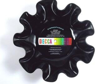 Louis Armstrong Vinyl Record Bowl Vintage LP Album 1973 (Satchmo At Symphony Hall) Decca Black Rainbow Label