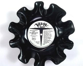 Ella Fitzgerald Vinyl Record Bowl Vintage LP Album Very Rare 1964 (Ella Fitzgerald Sings Johnny Mercer Song Book) White Black Promo Label