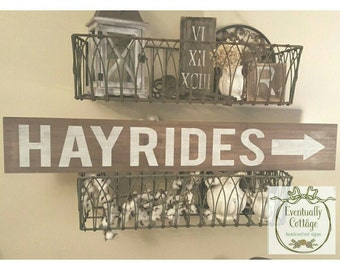 Handpainted Hayride sign
