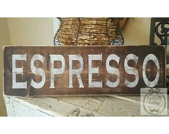 Handpainted Espresso sign