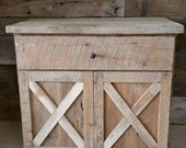 YOUR Custom Rustic Barn Wood Vanity or Cabinet with 2 Barn Style Doors with FREE SHIPPING - BWV475