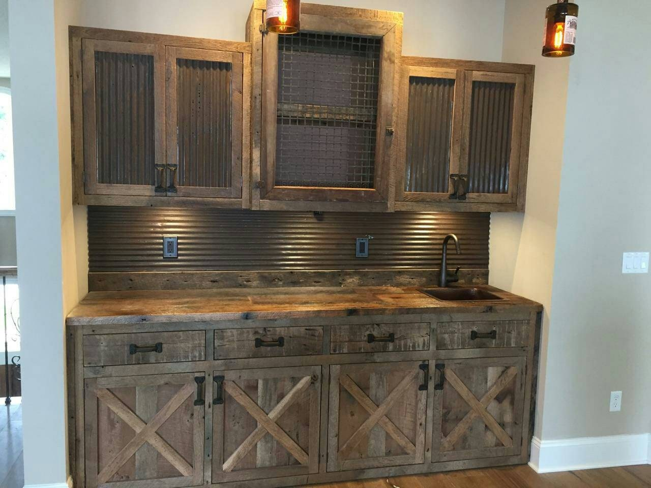 YOUR Custom Made Rustic Barn Wood Entertainment Center Bar