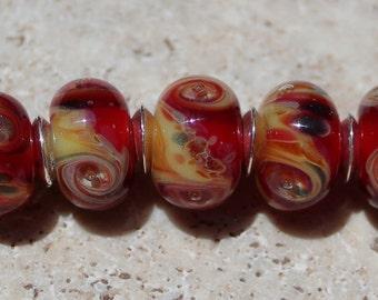 VOLCANIC Artisan boro beads by JRG