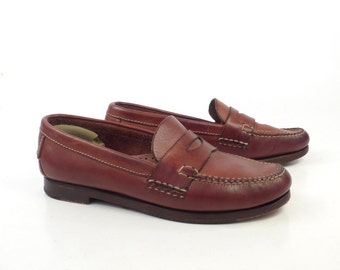 Cole Haan Moccasins Vintage 1980s Brown Leather Loafers Shoes women's size 6 1/2
