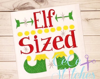 Elf Sized Christmas Embroidery Design