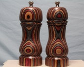 6 Inch COLORWOOD SALT and PEPPERMILL Set Numbers 1324 & 1325