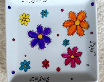 Porcelain Floral Tray