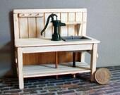 Miniature Pump Sink  1:12 scale