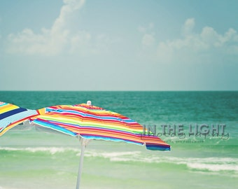 READY To SHIP - Beach Umbrellas - Lido Beach, Sarasota, FL - Fine Art Photograpy - 8x10, 11x14, other sizes available - fPOE