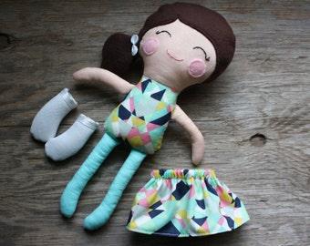 Dress Up Ava - Soft Doll - Rag Doll - Cloth Doll