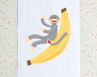 Sock Monkey Downloadable PDF Print