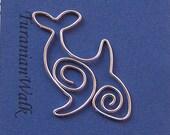 Orca - wire bookmark