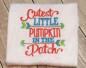 Cutest little pumpkin in the patch long sleeved shirt 2T - ready to ship immediately