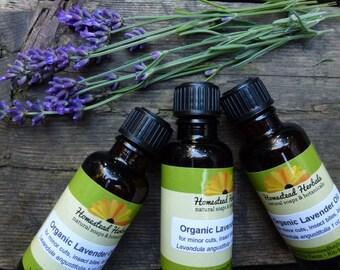 Organic Lavender Essential Oil / Lavender First Aid Oil / pure essential certified organic lavender oil