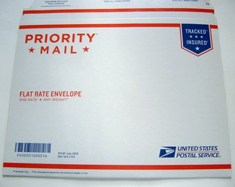 Shipping Upgrade, Rush Expedited Shipping, flat rate priority envelope, 2-3 days delivery in the USA for 9.75 USD