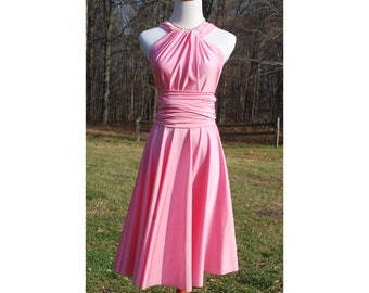 USA  PINK  Convertible Dress / infinity dress/ bridesmaids dress --