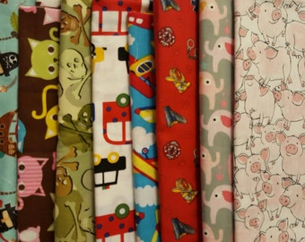 CLEARANCE Ouch Pouch Sale - Your Choice Color and Size Destash Fabric Each Made with Clear Front Pocket Kid Styles