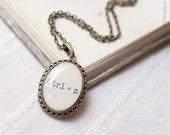 Geek necklace - Geek Jewelry - Keyboard Necklace - Ctrlz Shortcut - Geeky gift - Nerd Necklace - Tech jewelry - Geekery Necklace  (N009)