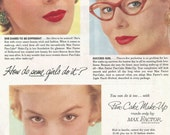 Vintage 1954 magazine ad advertisement - Max Factor ----Expires May 23, 2016 and will not be renewed----