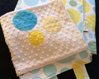 Tranquil Circles Baby / Toddler Quilt and Security Blanket