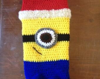 Minion Crocheted Christmas Stockings