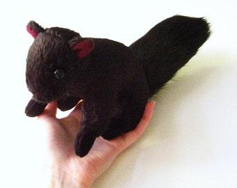 Black Squirrel Plush Doll