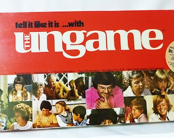 Vintage board game the ungame family therapy game night 1975 new and sealed