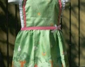 Child's Lace trimmed bib apron