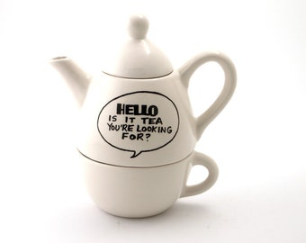 Hello is it tea , teapot , hello teapot , tea for one , Hello is it tea you're looking for teapot , Lennymud Lionel