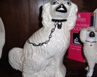 Antique English Staffordshire Dog King Charles Spaniel