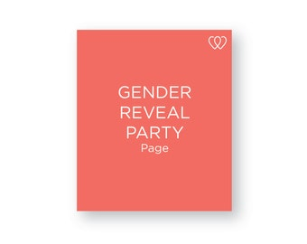 Gender Reveal Party Page // Additional Baby Book Page