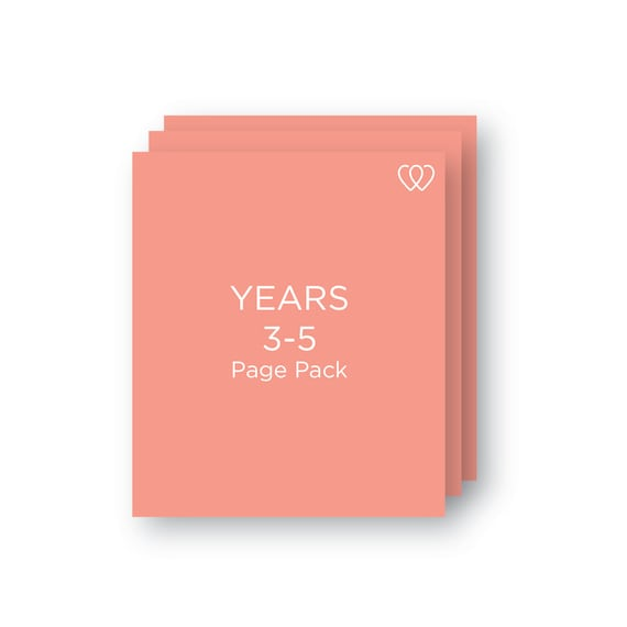 YEARS 3-5 | Additional Baby Book Page Pack