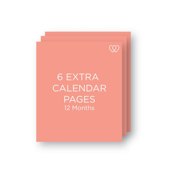 6 Extra Calendar Pages | 12 month Extension