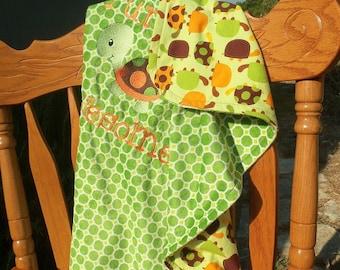 Turtley Awesome Minky Blanket