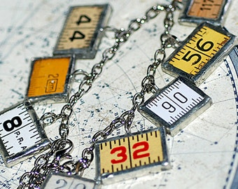 charm bracelet made out of vintage ruler, bracelet numbers, jewelry, accessories, coolvintage, gorgeous, looks great, unique, UA