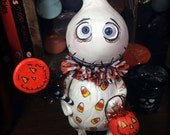 Boo Boo the ghost Halloween Grimmy art doll