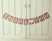 Sewn Thank You Paper Garland READY TO SHIP