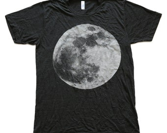 moon / space cycle / unisex triblend t-shirt