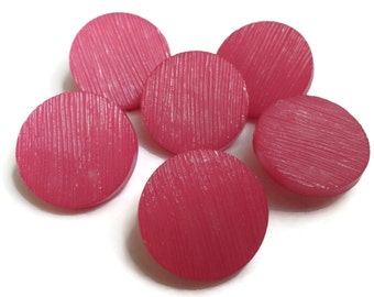 24 Pink Vintage Buttons 3/4 inch 19mm for Sewing Notions Knitting Jewelry Beads