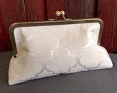 Ivory Bridal Clutch Handbag Bridesmaids Handbag for Bride or Bridesmaids in Delicate Ivory